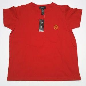 Lauren Ralph Lauren T-Shirt Short Sleeve Red Small